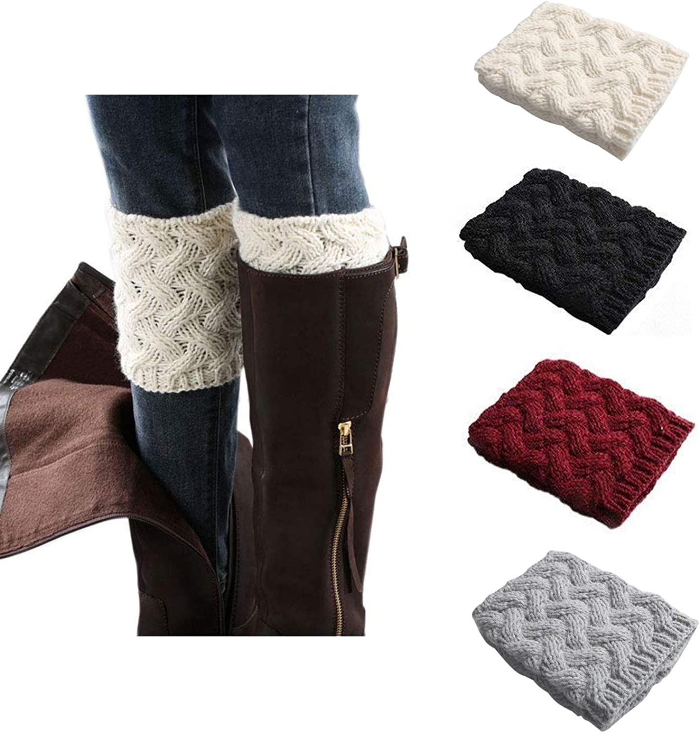 W300 Womens//Ladies Faux Fur Boot Toppers//Socks Accessories 1 Pair