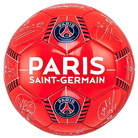 1e2e16597ea0e1 PSG - Official Paris Saint-Germain 'firma' Pallone da calcio - rosso ...