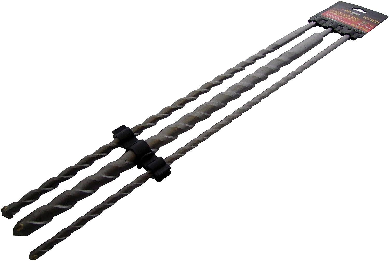 SDS Plus b/éton Jeu de forets 1000/mm 450/mm 3/pi/èces 600/mm E0690
