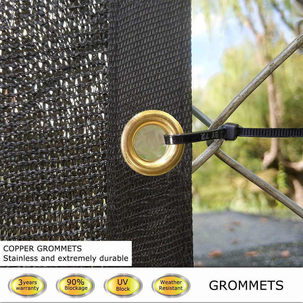 KANAGAWA 4/'x50/' Privacy Fence Screen Black Heavy Duty Mesh Cloth Fencing Shade Tarp Commercial Grade 150 GSM