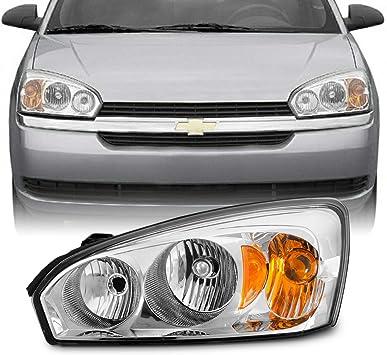 Fit 2004 2005 2006 2007 2008 Chevy Malibu Black Replacement Headlights Headlamps