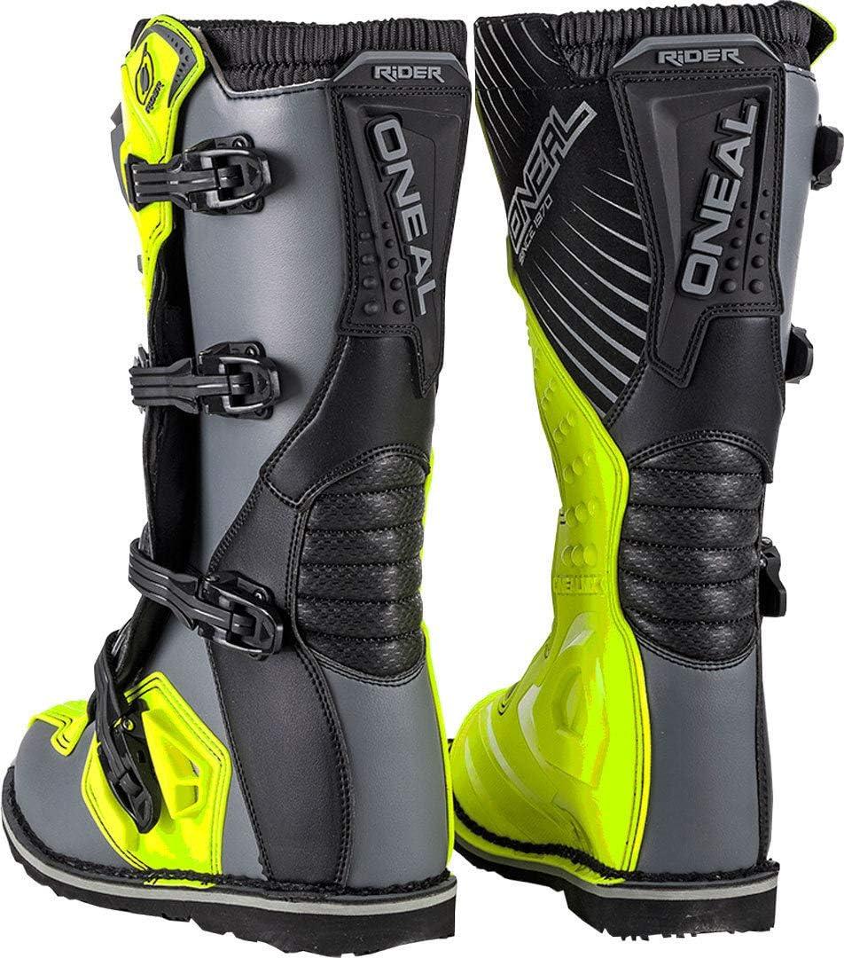 UK 9 0329-910 Oneal Rider EU Motocross Boots 43 Gray Hi-Viz