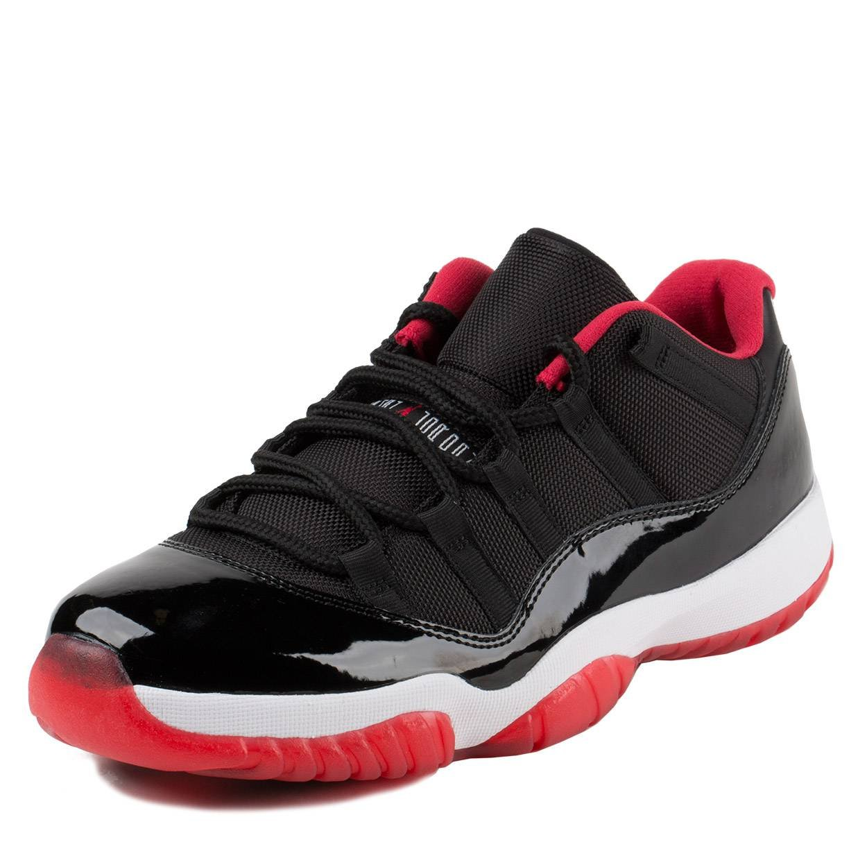 online store 1e3a5 76880 Galleon - Nike Mens Air Jordan 11 Retro Low Bred Black True Red-White  Synthetic Size 14