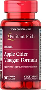Puritan's Pride Apple Cider Vinegar Formula-90 Tablets