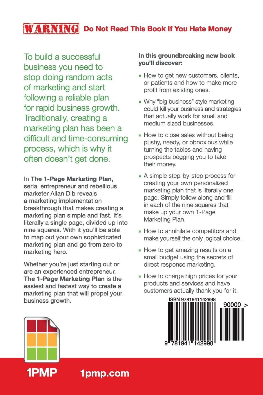 1 page marketing plan