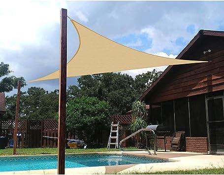 Vela de Sombra de jardín de 4.5x 4.5x4.5 Toldo Impermeable y Moho Toldo Triangular con protección UV 95% para jardín, Piscina, terraza Tamaño Personalizado: Amazon.es: Deportes y aire libre