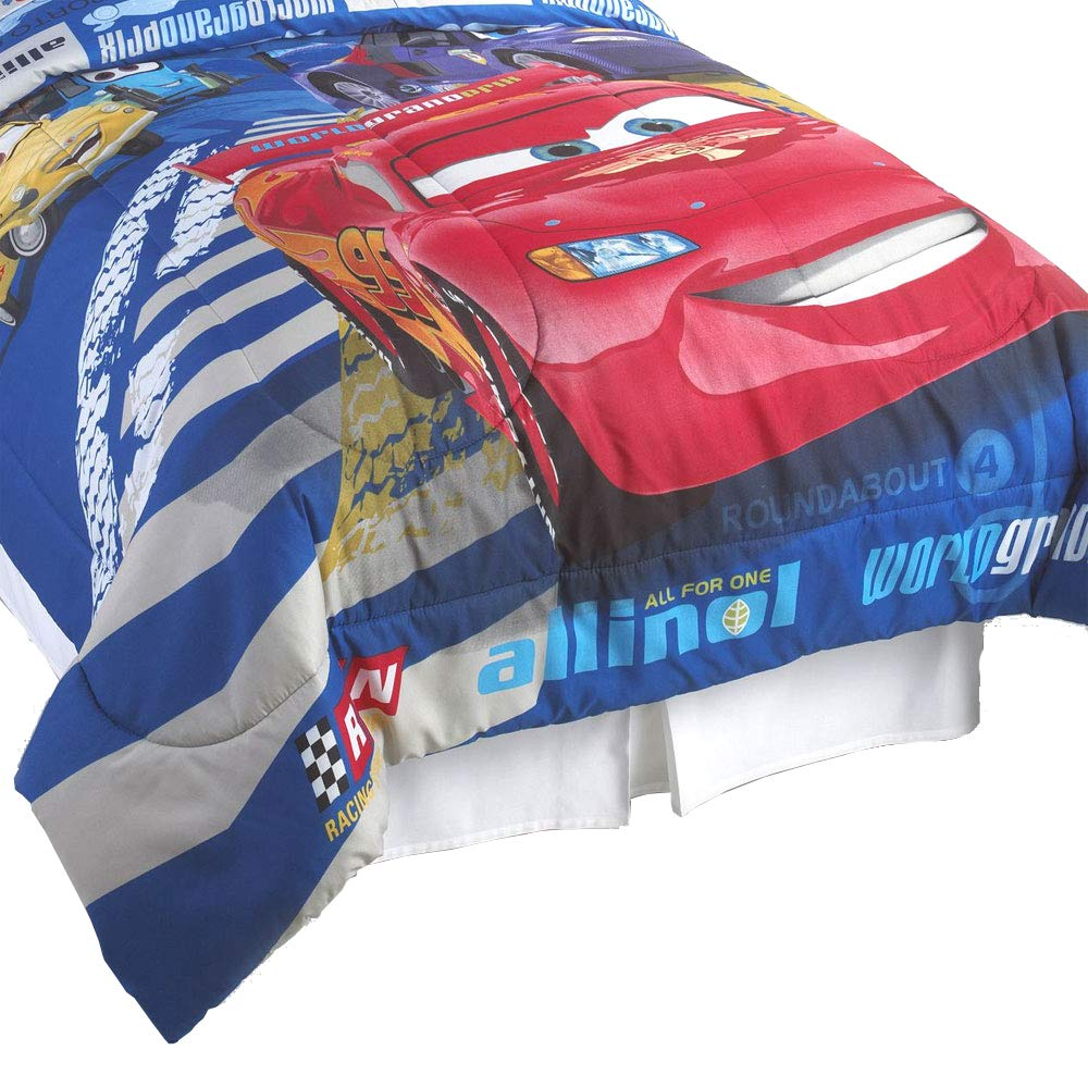 Disney Cars Track Burn Full-Double Bedding Comforter Jay Franco and Sons