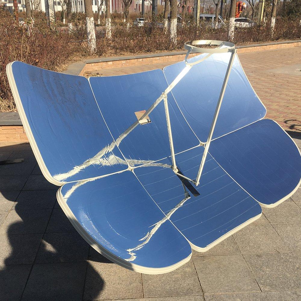 TOPQSC Cocina solar 6Pcs 130X190CM Rectangular enfoque parcial Olla Solar 2300W radiación solar : Amazon.es: Jardín