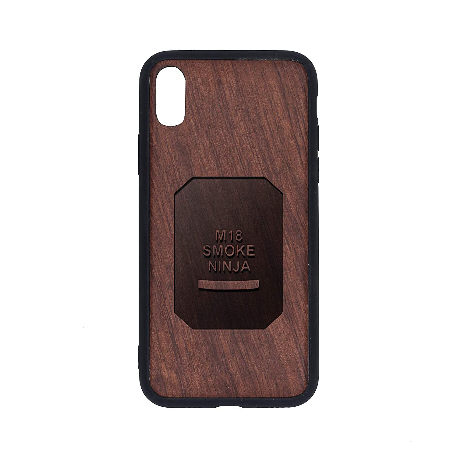Amazon.com: Smoke Ninja - iPhone Xs Case - Rosewood Premium ...