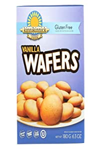 Kinnikinnick Vanilla Wafer Cookies 6.3 Ounces (Pack of 3)
