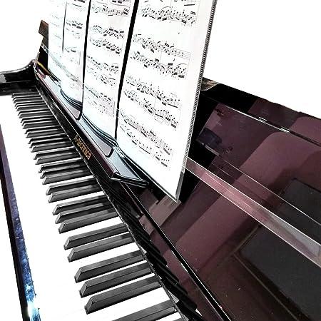 MUKEZON Correa de fijación para hoja de piano transparente escalable antideslizante equipo de música Accesorios para piano