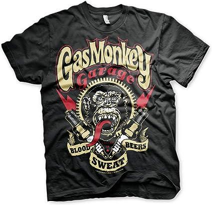Gas Monkey Garage Mens Official Spark Plugs T Shirt Black