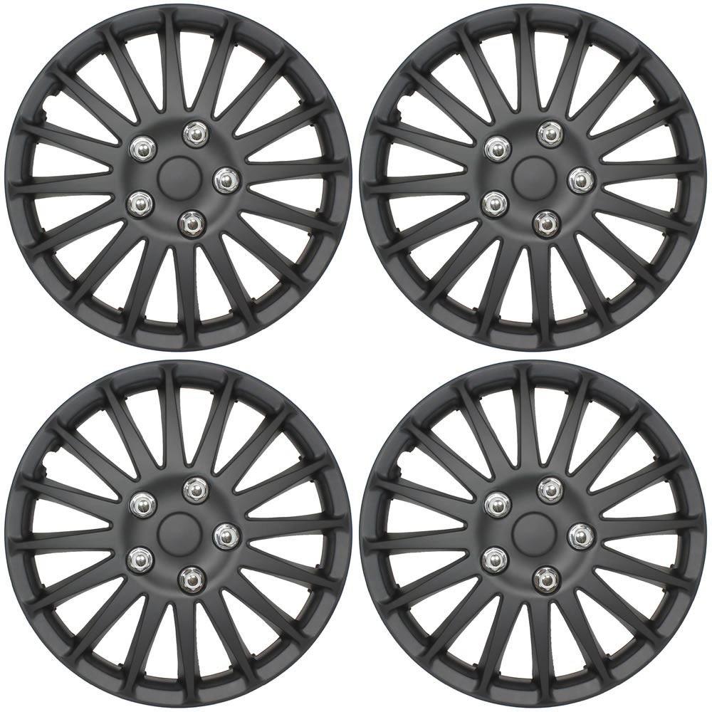 FORD FIESTA Car Wheel Trims Hub Caps Plastic Covers Lighting 15 Black