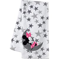 Lambs & Ivy Disney Baby Minnie Mouse Fleece Baby Blanket, Gray/White