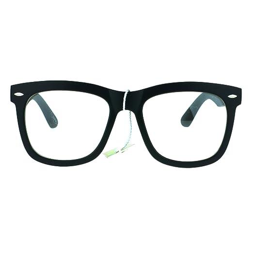 89a4a11eff9 Retro Trendy Oversize Horned Rim Hipster Plastic Clear Lens Eye Glasses  Frame Matte Black