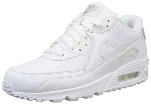 in stock e8085 68dee Nike Men s Air Max 90 Leather Running Shoes, True White 113, 6 UK 39