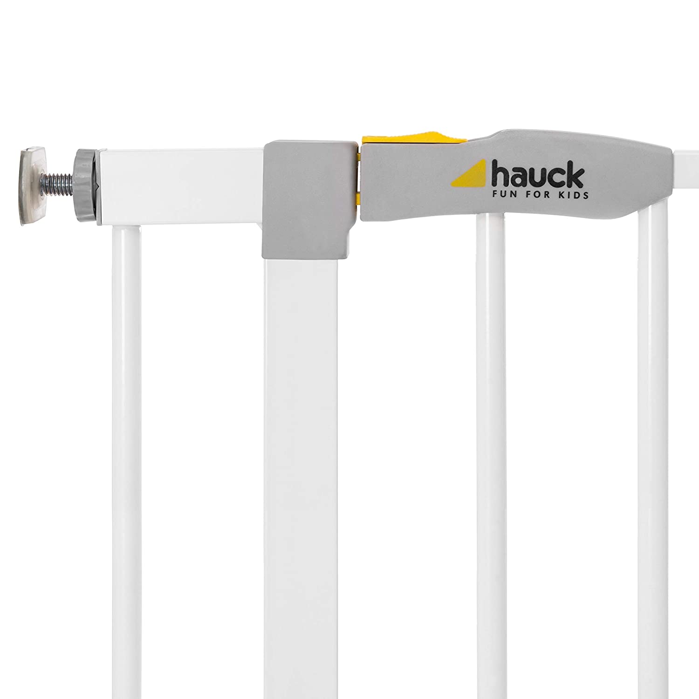 Blanc 21cm extension 96-101cm M/étal Pivotant des deux C/ôt/és Hauck Open N Stop Barri/ère de S/écurit/é // Portes descalier 75-80 cm Combinable avec Y-broches