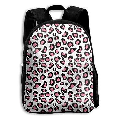 a89781d72572 Amazon.com   Pink Cheetah Leopard School Backpack Children Shoulder ...