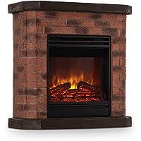 KLARSTEIN Villach Brick Edition - Chimenea eléctrica, Efecto de Llamas LED, Brillo Regulable, Rendimiento 1800 W…