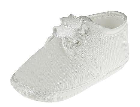 para y niñas blanco de bebé blanco encaje con Zapatos color bautizo blanco niños aInpOp40