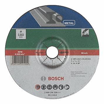 Bosch 2609256338 Diy Schruppscheibe Metall 180 Mm O X 6 Mm Gekropft