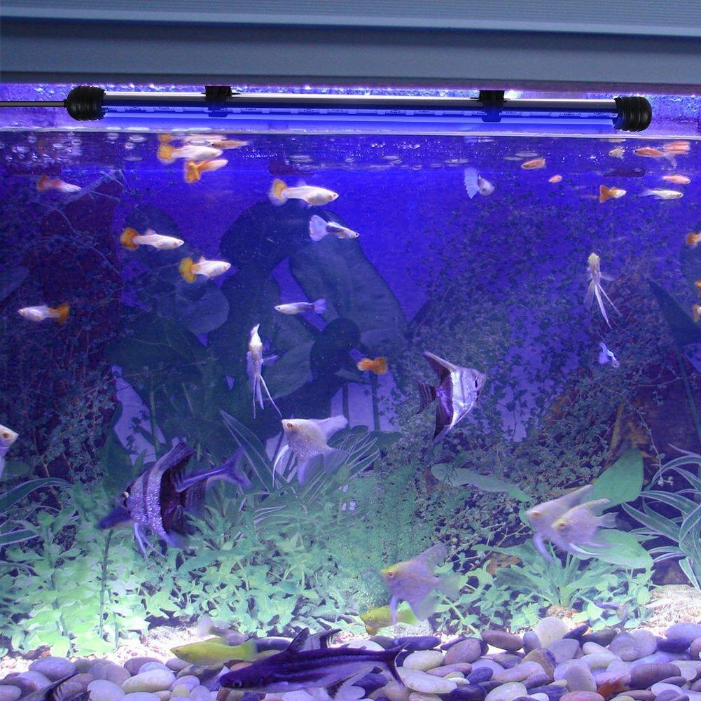 SUBOSI FVTLED Blanco Color Lámpara de Acuario 8W 62CM 33 Luces SMD5050 LED Lampara Tira Pecera Sumergible Submarino Luz: Amazon.es: Hogar