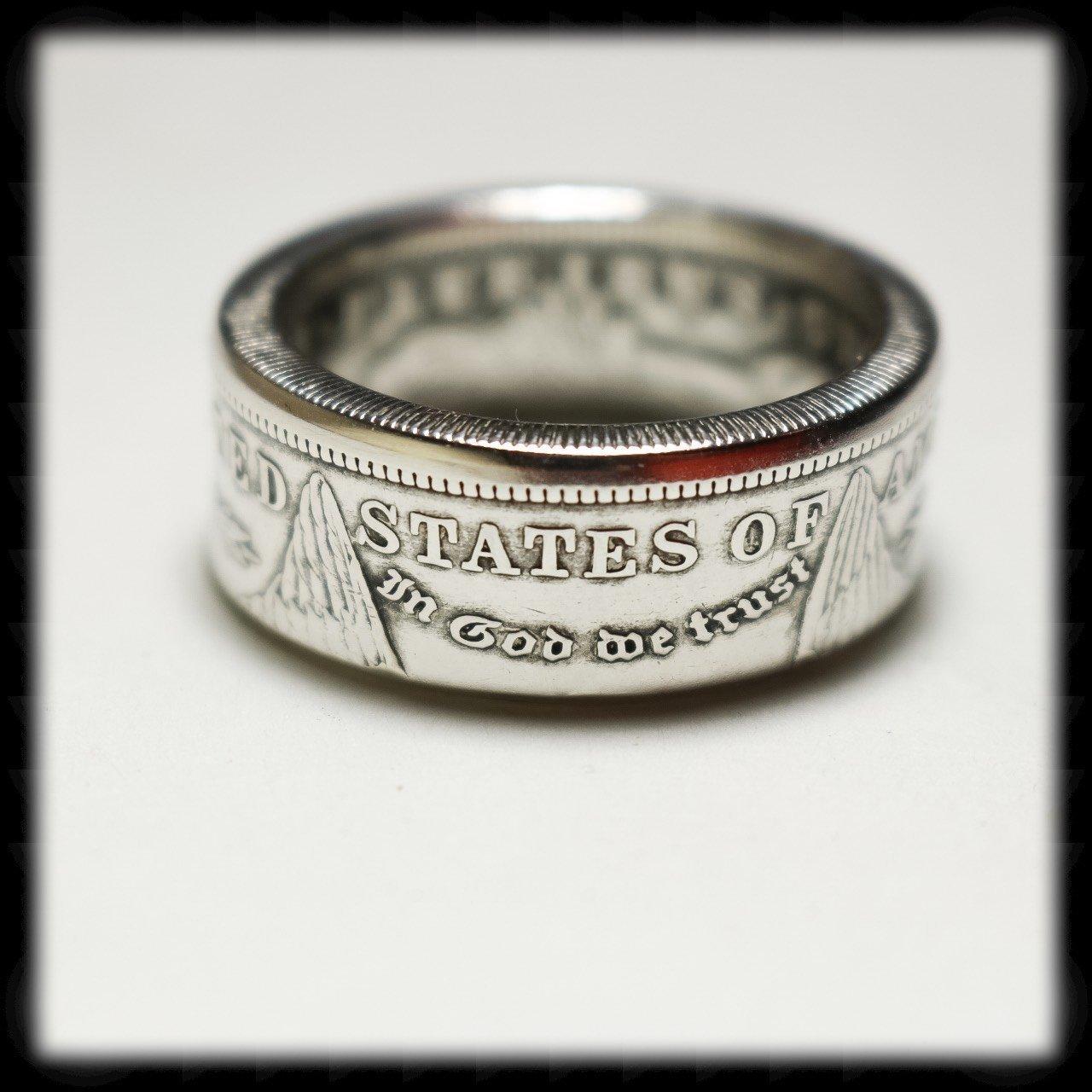 Handmade US Morgan Silver Dollar Coin Ring