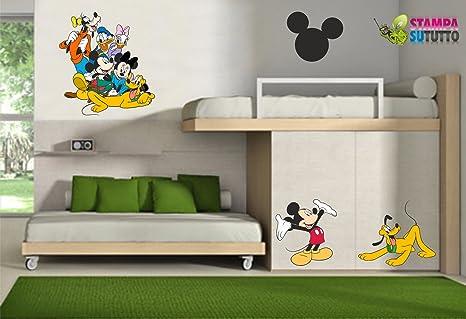 Adesivi Murali Minnie E Topolino.Adesivi Murali Bambini Disney Topolino E Amici Minnie Gigante