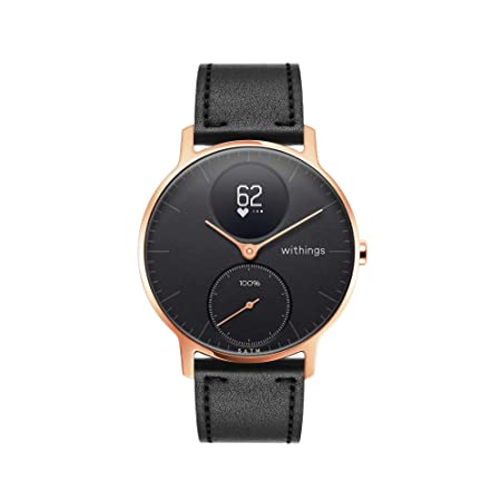 Withings / Nokia Steel HR Hybrid - Reloj, Unisex Adulto, Oro Rosa (Rose Gold), Negro, 36mm: Amazon.es: Deportes y aire libre