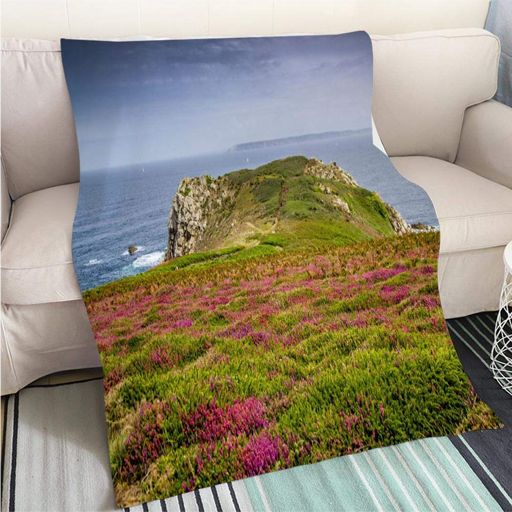 color3 59 x 80in Creative Flannel Printed Blanket for Warm Bedroom The end of The World Perfect for Couch Sofa or Bed Cool Quilt