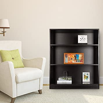 TopHomer Book Storage Rack Wood CD DVD Display Shelf Extra Large Bookcase Bookshelf Stand Unit