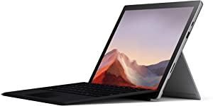 "New Microsoft Surface Pro 7 – 12.3"" Touch-Screen - 10th Gen Intel Core i5 - 8GB Memory - 128GB SSD (Latest Model) – Platinum with Black Type Cover"