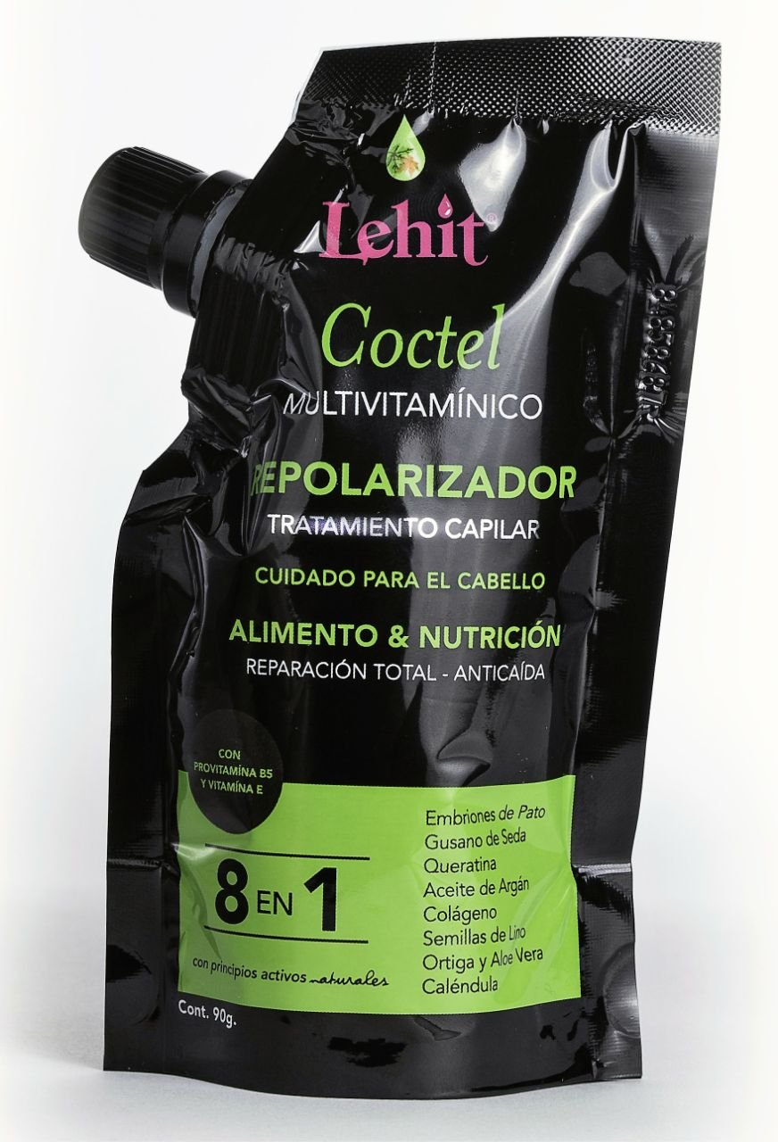 Amazon.com: Lehit - Coctel 8 En 1 Multivitaminico Repolarizador Tratamiento Capilar Cuidado Para El Cabello Alimento Y Nutricion Reparacion Total Anticaida ...