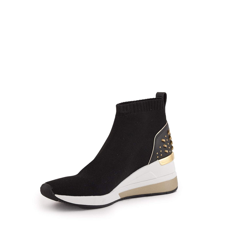 fb9edb3ed Michael Kors Schuhe Frau Hohe Turnschuhe mit Keil 43T8SKFE5D Skyler Bootie  Black: Amazon.de: Schuhe & Handtaschen