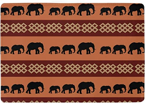 Leather Passport Holder Wallet Cover Case RFID Blocking Travel Wallet African Landscape With Elephants