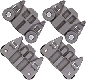 Alvar [UPGRADED] W10195417 Dishwasher Lower Rack Wheel Assembly with Steel Screws Replacement Parts for Whirlpool, Kenmore, KitchenAid, Jenn-Air,Enhanced Durability with Steel Screws (4 Pack)