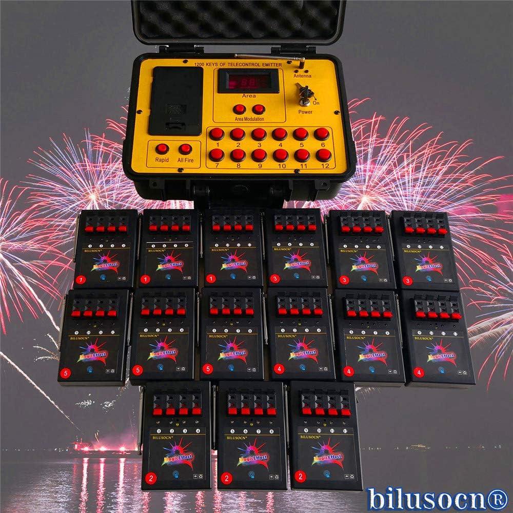BILUSOCN//Sistema di accensione a 60 canali impianto di accensione radio impianto di accensione impianto di accensione pirrotecnica per accenditori elettrici accenditori a ponte