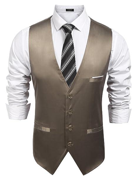 Amazon.com: simbama para hombre formal vestido de Slim Fit ...