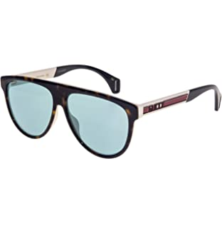 Gafas de Sol Gucci GG0463S Black/Grey Green Hombre: Amazon ...