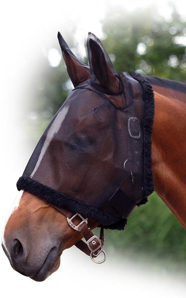 Fliegenschutzmaske mit Ohren QHP Fliegenschutz Fliegenmaske Fliegennetz ARBO-INOX/®