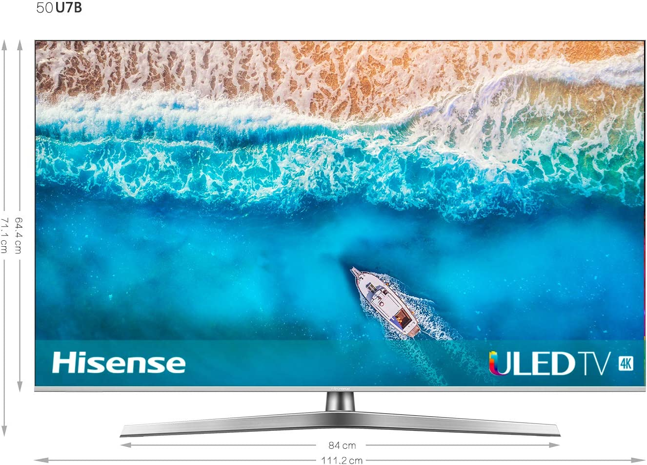 Hisense H50U7B - Smart TV ULED 50 4K Ultra HD con Alexa Integrada, Bluetooth, Dolby Vision HDR, HDR 10+, Audio Dolby Atmos, Ultra Dimming, Smart TV VIDAA U 3.0 IA, mando con