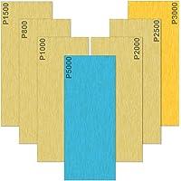 Akuoly Natschuurpapier, 35 vellen, set 5000, 3000, 2500, 2000, 1500, 1000, 800, korrel schuurbladen, nat en droog, voor…