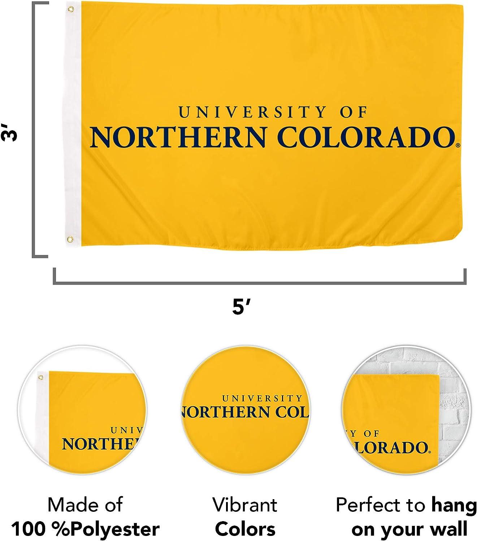Desert Cactus University of Northern Colorado NCAA 100/% Polyester Indoor Outdoor 3 feet x 5 feet Flag Style 7a