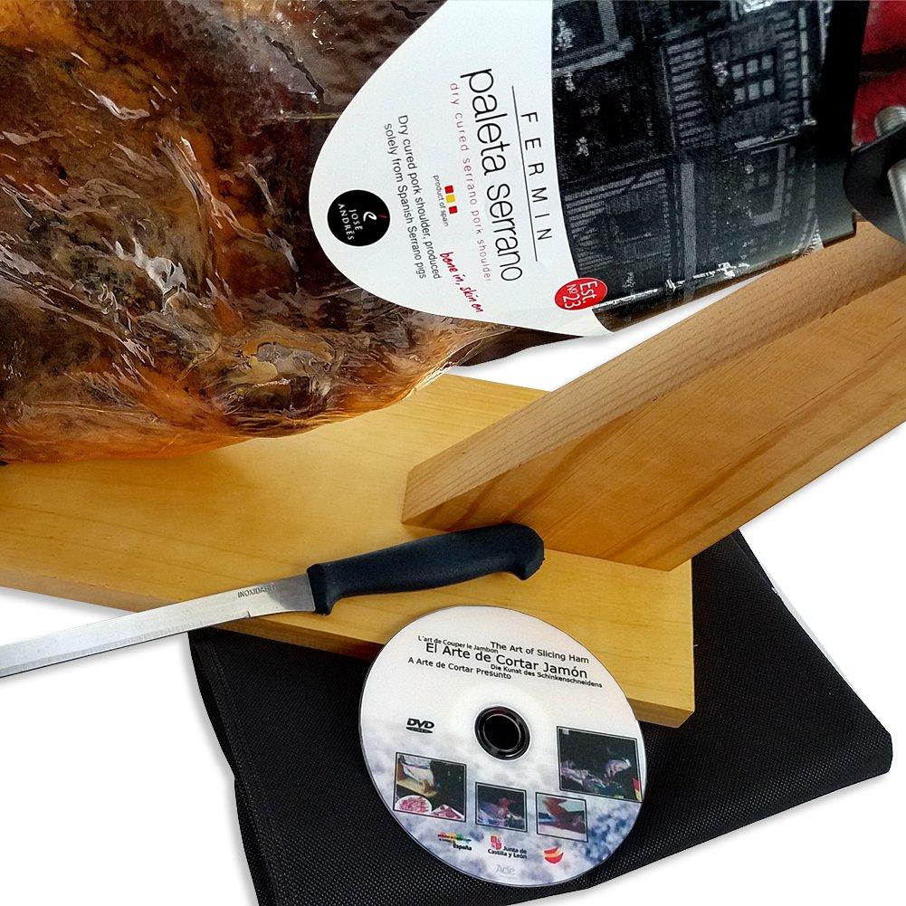 Serrano Ham Leg by Fermin, 12-13 lb, 20-25 Servings + Ham Holder, Carving Knife + Guide by Fermin (Image #5)