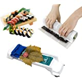 Sushi Making Kit - Includes 1x Sushi Mat, 1x Sushi Roller, Easy Fun Sushi Kit Vegetable Meat Roller for Beginners and Children