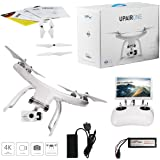 UPair Video Drone, Drone with Camera 4K HD, Quadcopter Drone, 5.8G FPV Monitor Transmit Live Video-Altitude Hold, Headless Mode, GPS One Key Return Easy for Beginners, 7 inch Screen