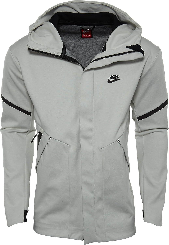 Nike Sportswear Tech Fleece Repel Windrunner Jacket Men Light Bone Carbon Heather Black 867658 072 X Large At Amazon Men S Clothing Store