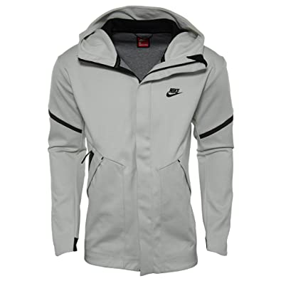 4f1c3777f5d7 Amazon.com  NIKE Sportswear Tech Fleece Repel Windrunner Jacket Men Light  Bone Carbon Heather Black 867658-072  Shoes