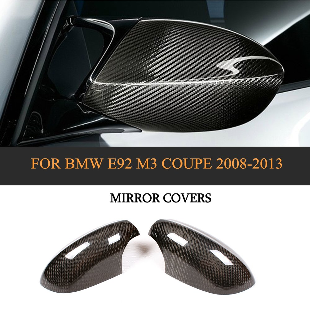 DRY Carbon Car Mirror Covers Trim for BMW 3 Series E92 M3 Coupe 2008-2013 xiangfa