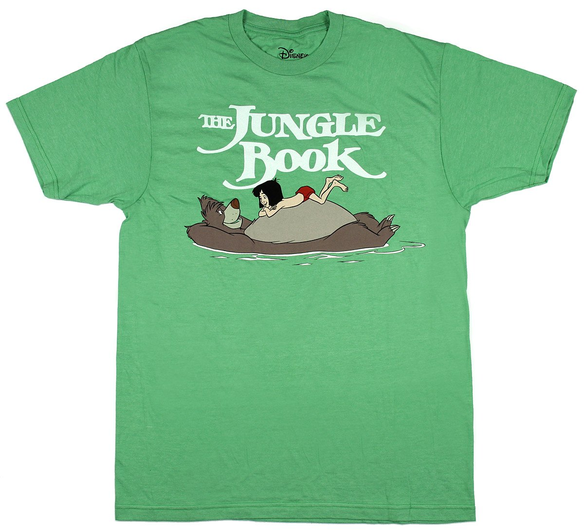 Mighty Fine The Jungle Book Floating Adult T-Shirt - Heather Green (Large)
